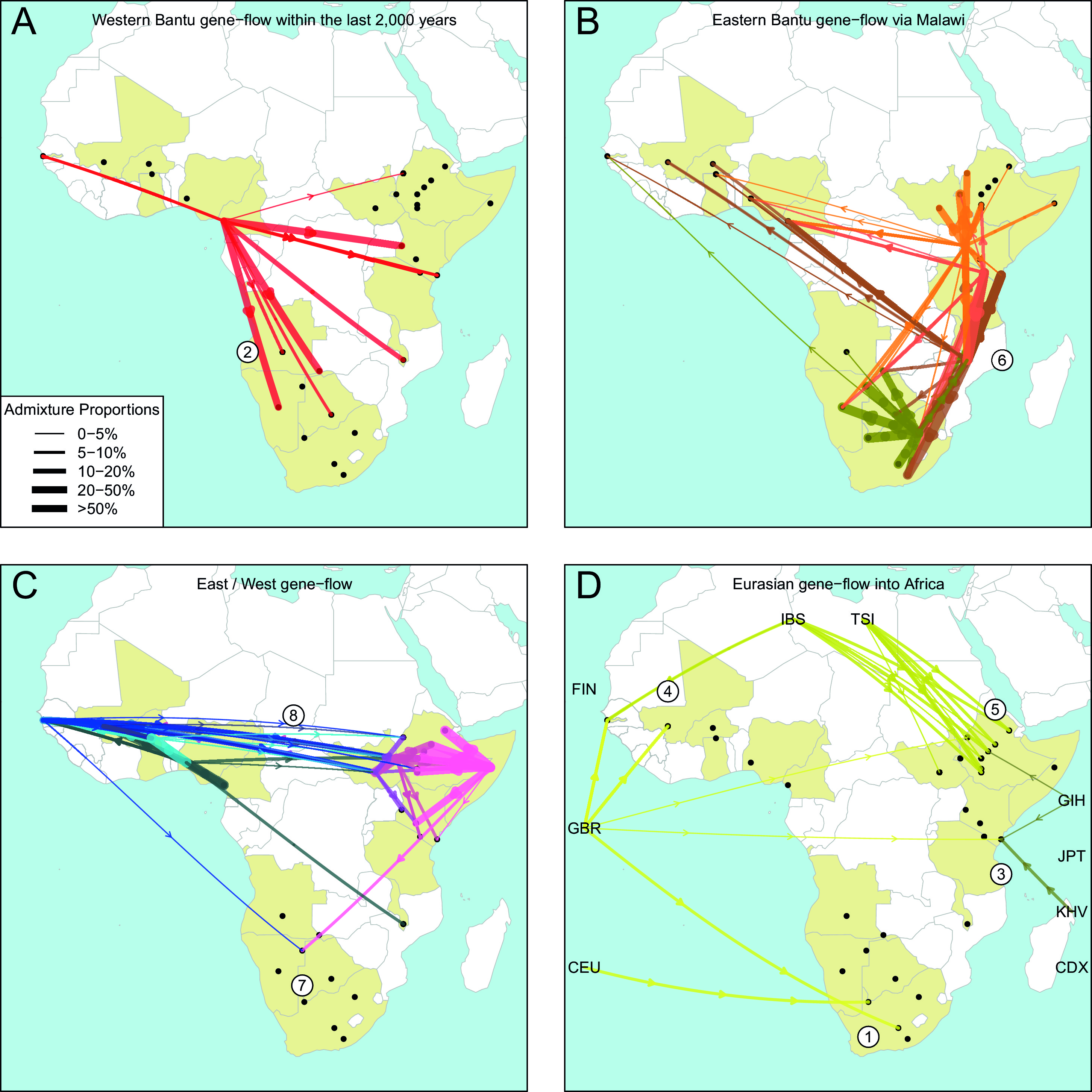 Admixture into and within sub saharan africa elife lens the geography of recent gene flow in africa biocorpaavc