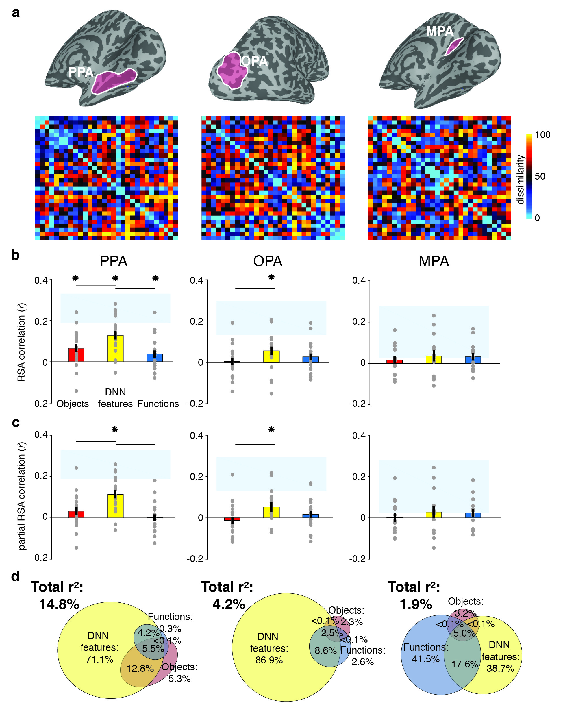 Distinct contributions of functional and deep neural network